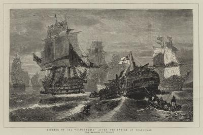 Sinking of the Redoutable after the Battle of Trafalgar-Konstantinos Bolanachi-Giclee Print