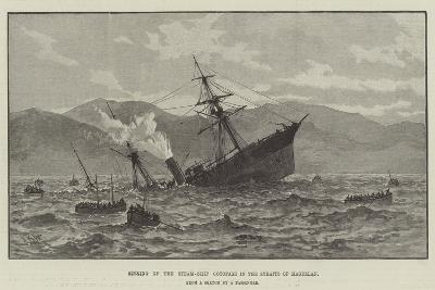 Sinking of the Steam-Ship Cotopaxi in the Straits of Magellan--Giclee Print