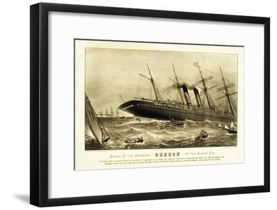 Sinking of the Steamship Oregon of the Cunard Line, Pub. C.1886