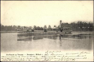 Sint Amands Op Temsche, Stoomboot Wilford--Giclee Print