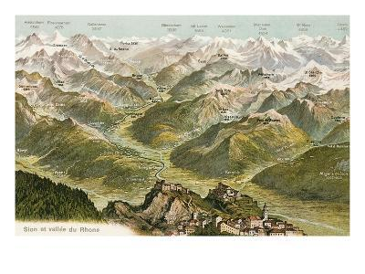 Sion and the Valley of the Rhone--Art Print