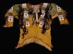Sioux Beaded and Fringed Hide Warrior's Shirt