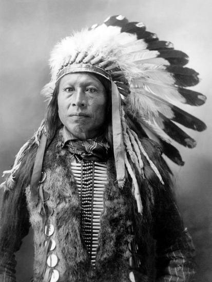 Sioux Brave, C1900-John Alvin Anderson-Photographic Print