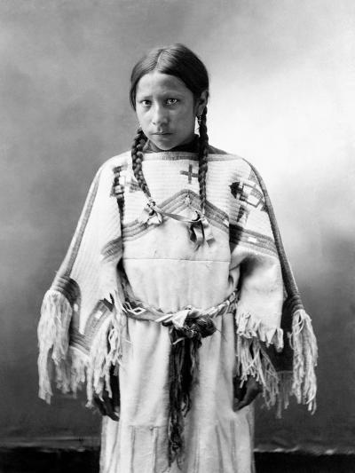 Sioux Girl, C1900-John Alvin Anderson-Photographic Print