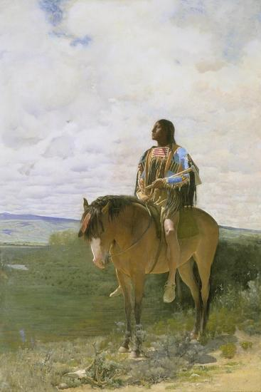 Sioux-Indian on Horseback, 1882-George de Forest-Brush-Giclee Print