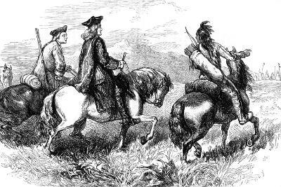Sir Alexander Cuming on His Way to Visit the Cherokees, South Carolina, C1730--Giclee Print
