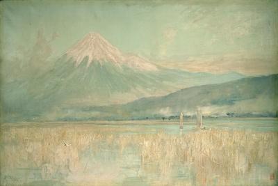 Dawn on the Sacred Mountain, the Fuji Sun Half Hidden in the Clouds, 1889