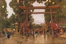 View of a Shinto Shrine, c.1889-Sir Alfred East-Giclee Print