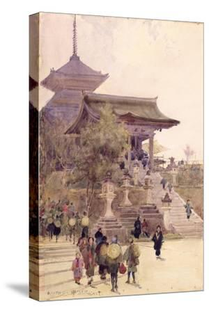The Entrance to the Temple of Kiyomizu-Dera, Kyoto, with Pilgrims Ascending
