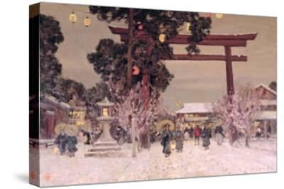 View of a Shinto Shrine, c.1889 by Sir Alfred East
