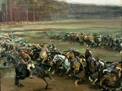 Charge of Flowerdew's Squadron, c.1918