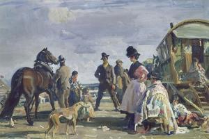 Epsom Downs - City and Suburban Day by Sir Alfred Munnings