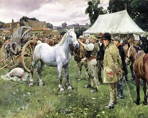 Horse Sale by Sir Alfred Munnings