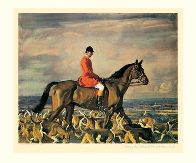 Major T. Bouch and the Belvoir Hounds