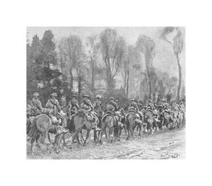 The Fort Garry's on the March by Sir Alfred Munnings