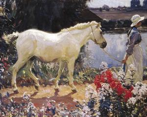 The Path To The Orchard by Sir Alfred Munnings