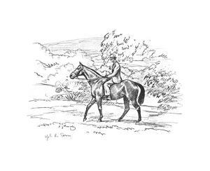 Warrior On the Way Up To the Downs by Sir Alfred Munnings