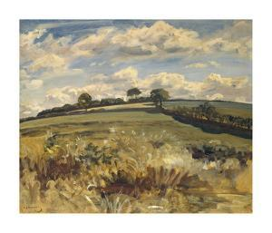 Withypool Landscape, Exmoor by Sir Alfred Munnings