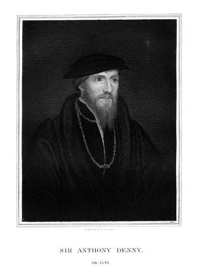 Sir Anthony Denny, Courtier of Henry VIII-TA Dean-Giclee Print