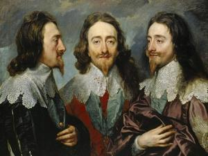 Charles I, King of England (1600-164), from Three Angles (The Triple Portrai), 1636 by Sir Anthony Van Dyck