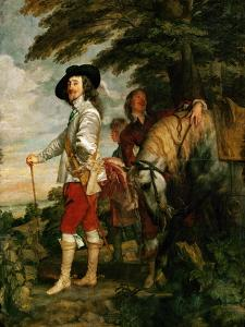 Charles I, King of England During a Hunting Party by Sir Anthony Van Dyck
