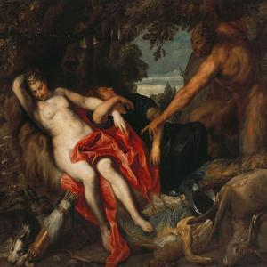 Diana and Endymion Surprised by a Satyr by Sir Anthony Van Dyck
