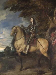 Equestrian Portrait of Charles I (1600-49) C.1637-38 by Sir Anthony Van Dyck