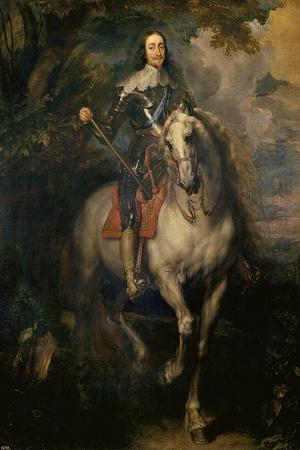 Equestrian Portrait of Charles I (Charles I on Horsebac)