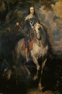 Equestrian Portrait of Charles I (Charles I on Horsebac) by Sir Anthony Van Dyck