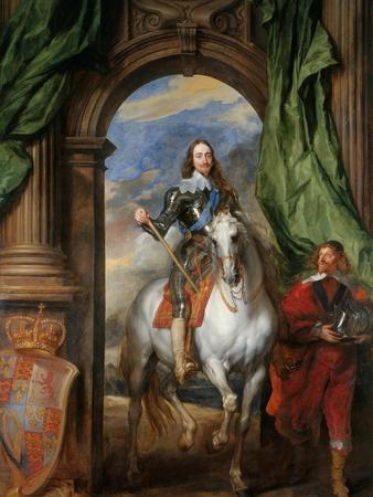 Equestrian Portrait of Charles I, King of England (1600-164) with M. De St Antoine, 1633