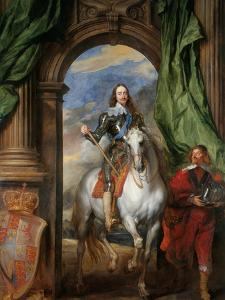 Equestrian Portrait of Charles I, King of England (1600-164) with M. De St Antoine, 1633 by Sir Anthony Van Dyck