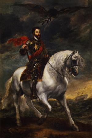 Equestrian Portrait of the Emperor Charles V, C. 1620