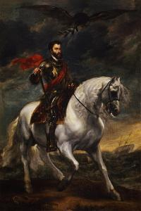 Equestrian Portrait of the Emperor Charles V, C. 1620 by Sir Anthony Van Dyck