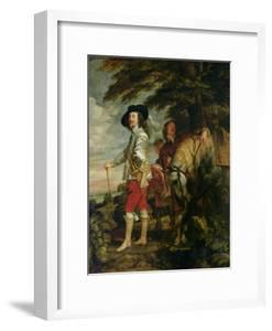 King Charles I (1600-49) of England out Hunting, circa 1635 by Sir Anthony Van Dyck