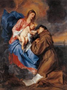 Madonna with Child & St. Anthony of Padua by Sir Anthony Van Dyck