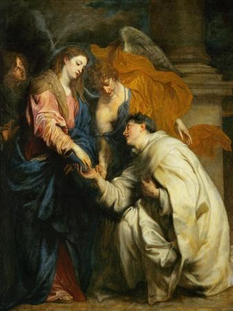 Mystic Engagement of the Beatified Hermann Joseph with the Virgin Mary, 1630