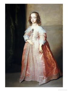 Portrait of Mary, Princess Royal (1631-1660) by Sir Anthony Van Dyck