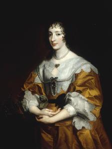 Portrait of Queen Henrietta Maria by Sir Anthony Van Dyck