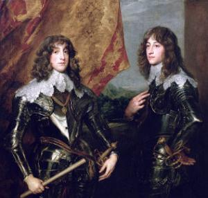Prince Charles Louis Elector Palatine and His Brother, Prince Rupert of the Palatinate, 1637 by Sir Anthony Van Dyck