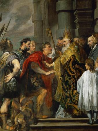 Saint Ambrose and Emperor Theodosius