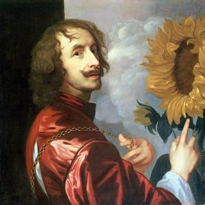 Self Portrait with a Sunflower, after 1632 by Sir Anthony Van Dyck