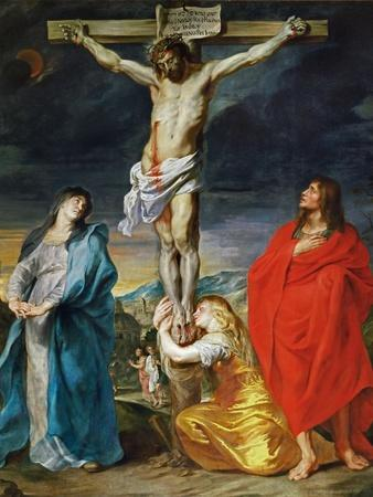 The Crucified Christ with the Virgin Mary, Saints John the Baptist and Mary Magdalene