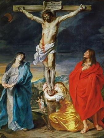 The Crucified Christ with the Virgin Mary, Saints John the Baptist and Mary Magdalene by Sir Anthony Van Dyck