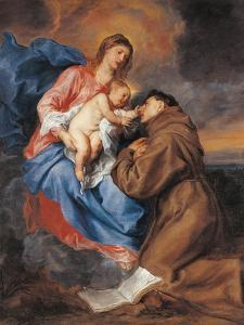 The Madonna with Child and St Anthony of Padua by Sir Anthony Van Dyck