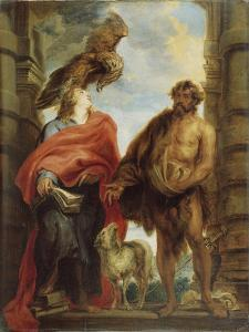 The Two Holy Saints John by Sir Anthony Van Dyck