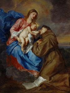 Virgin and Child with Saint Anthony of Padua, 1630-1632 by Sir Anthony Van Dyck