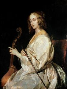 Young Woman Playing a Viola Da Gamba by Sir Anthony Van Dyck