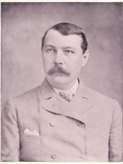 Sir Arthur Conan Doyle British Physician and Writer, Circa 1895--Photographic Print