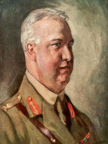 Sir Arthur William Currie, Canadian First World War General--Giclee Print