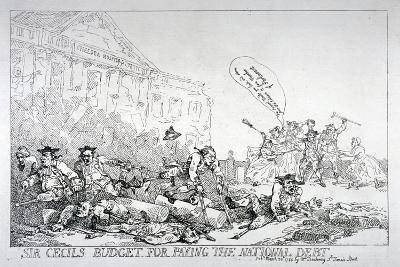 Sir Cecils Budget for Paying the National Debt, 1874-Thomas Rowlandson-Giclee Print